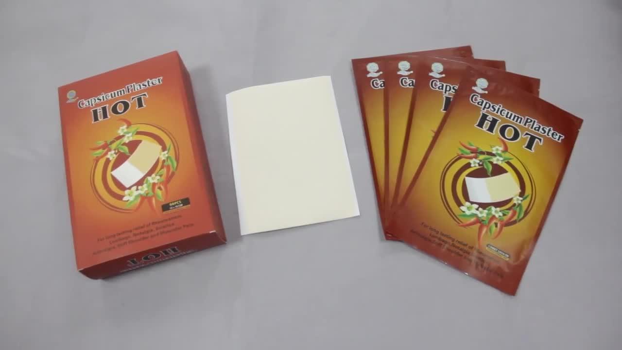 Hot sale factory direct price neck pain plaster medigrip capsicum india