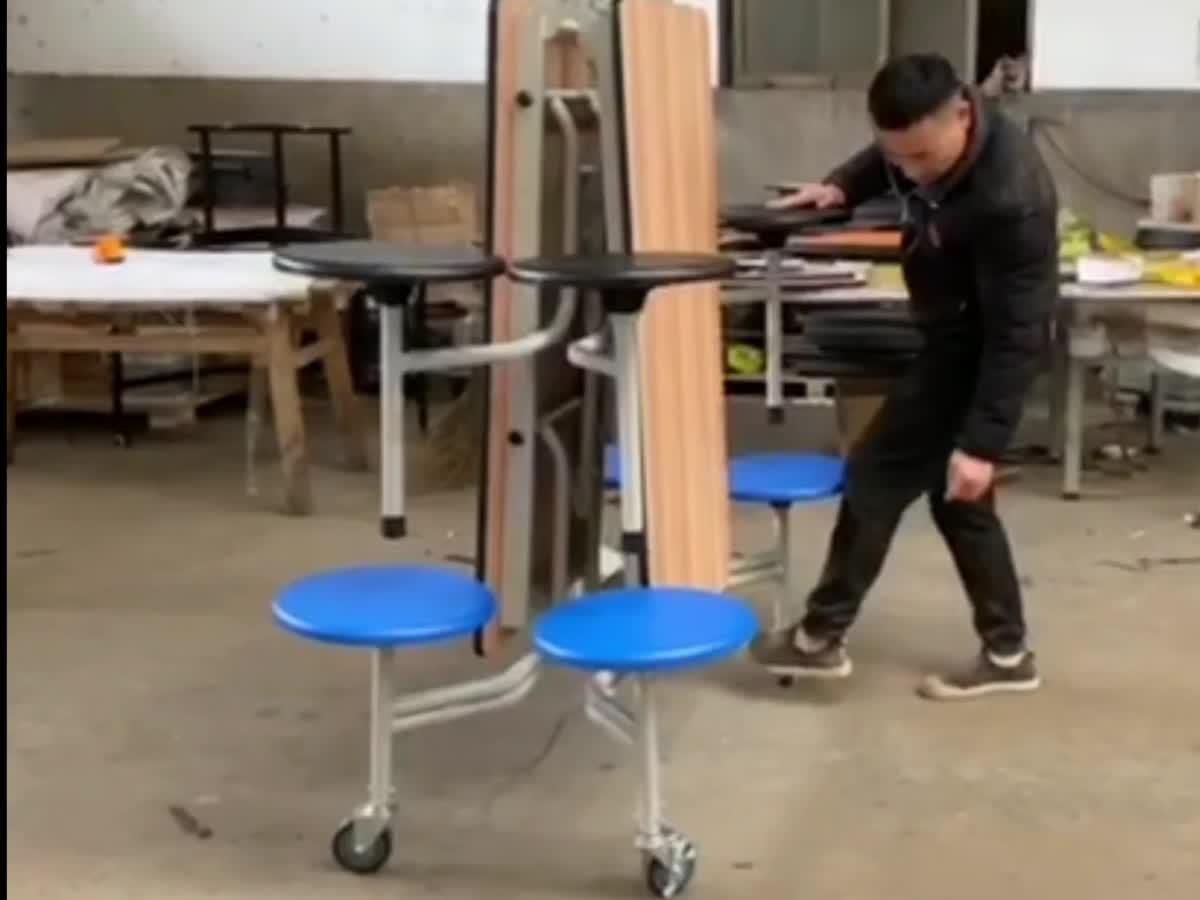 10 年保証モーデン携帯 8 フィートロング折りたたみテーブル講堂に使用して/教室/カフェテリア