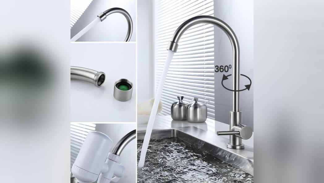 2018 High Quality cold water Universal rotatable vegetable Kitchen sink faucet