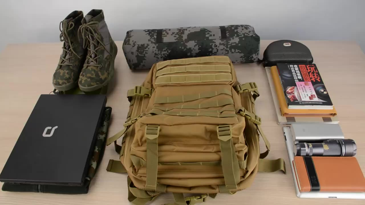 outdoor hiking trolley travel assault laptop rucksack military backpack combat tactical backpack