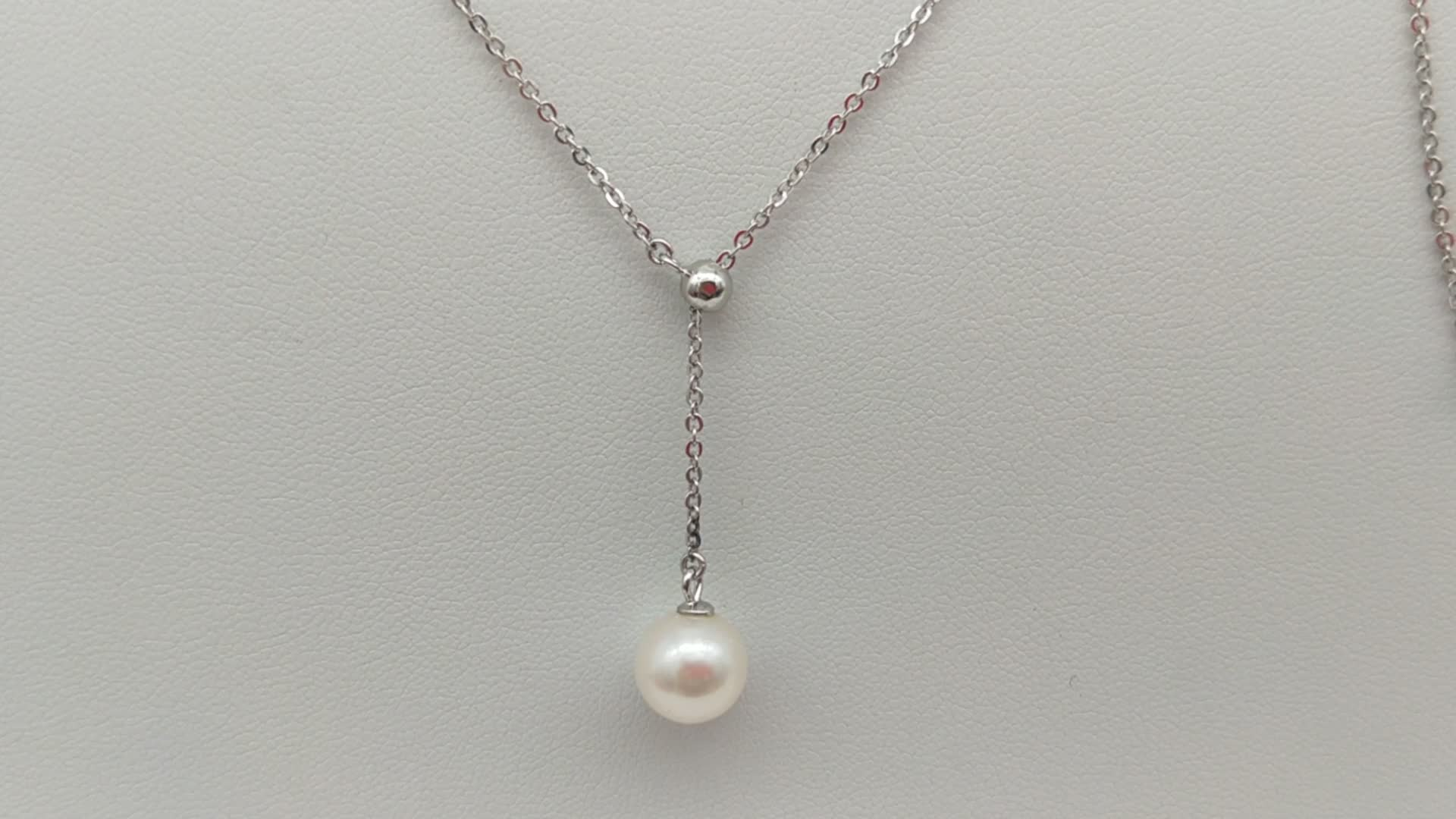 Fashionable  Freshwater Pearl Necklace Wholesale, 925 Sterling Silver Freshwater Pearl Pendant For Gift