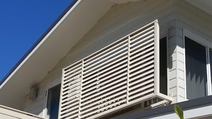 Esterno Progetto sole ombreggiatura 100 millimetri-300 millimetri lame di alluminio Tenda Da Sole Feritoia tetto