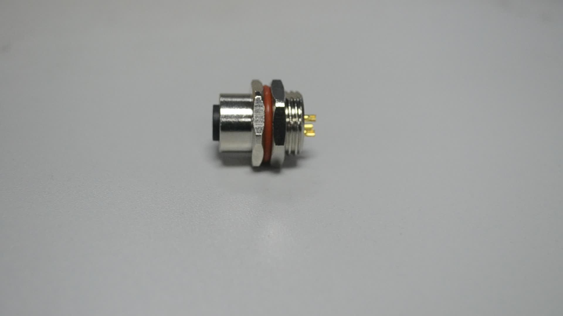 Panel mount 3Pin Splitter M12 Circular Connector