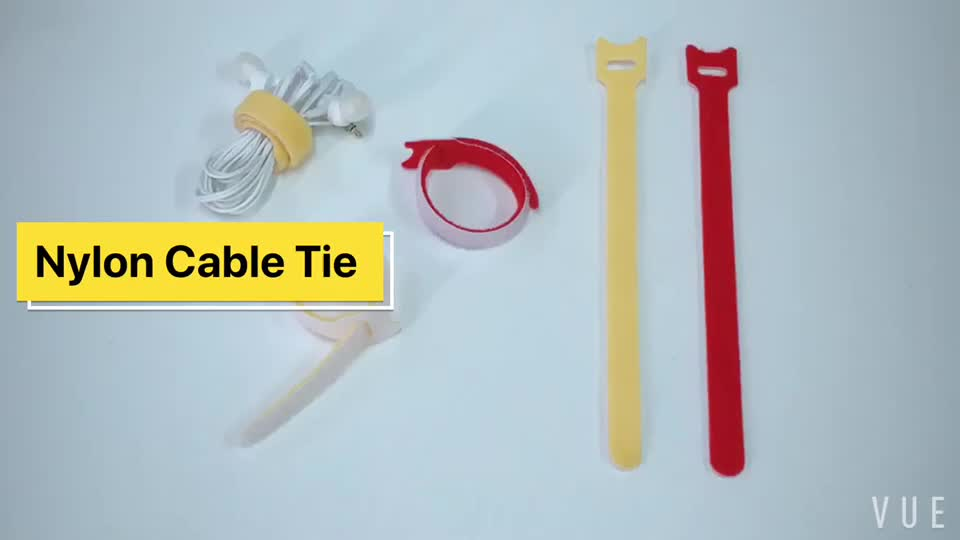 대 한 Wire 훅 및 Loop Tape Ajustable Nylon 리보, Cable Tie