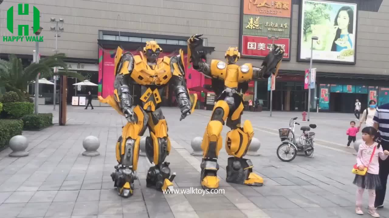Transformer Cosplay Robot bumble bee costume for adult
