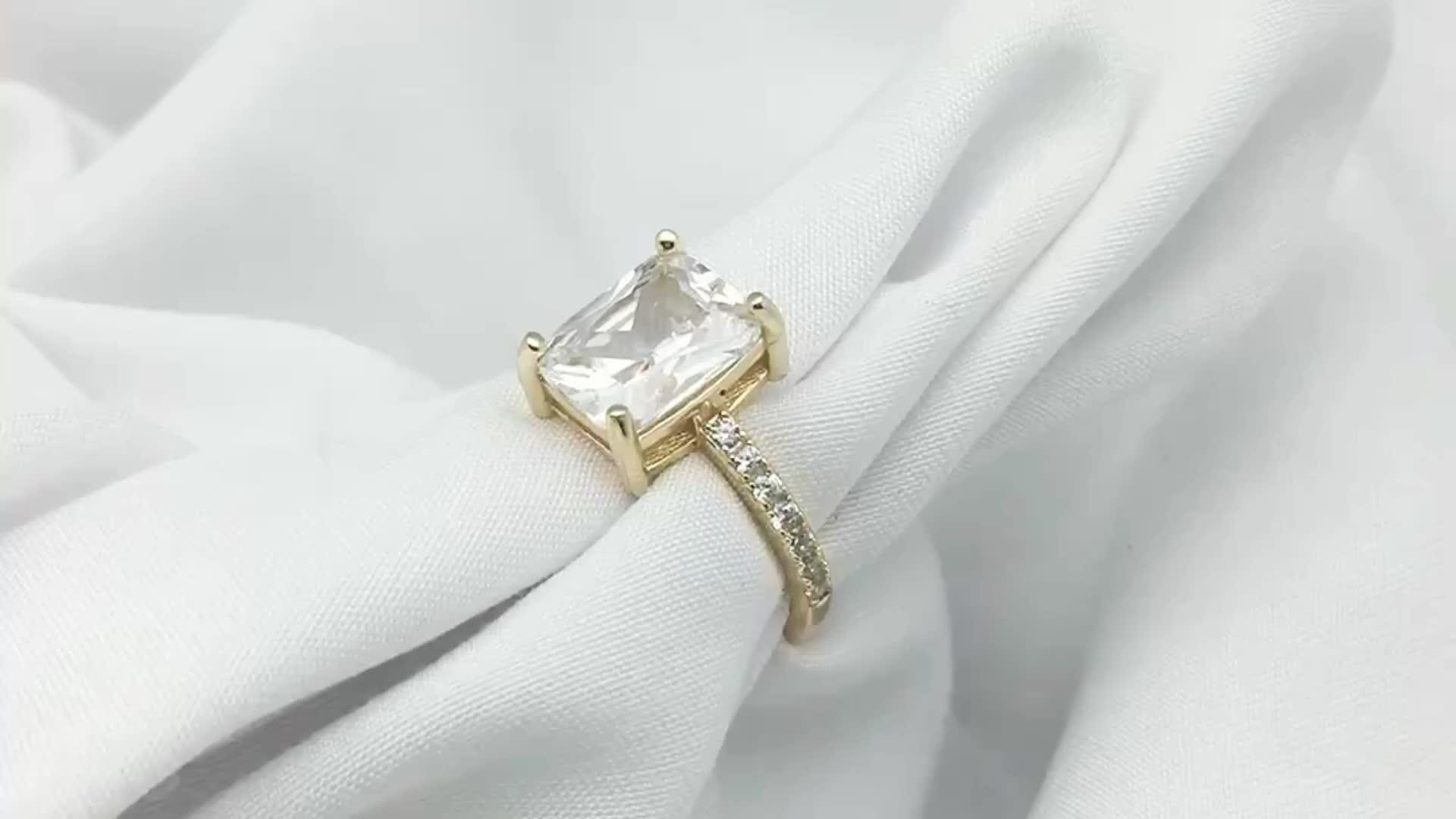 암 Jewelry 큰 방사 Cubic 지르코니아 웨딩 약혼 rings