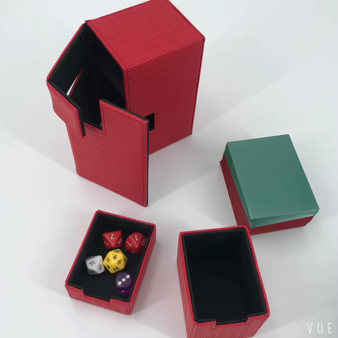 Popular HENWEI PU Deck Box For Dice And Board Game Card