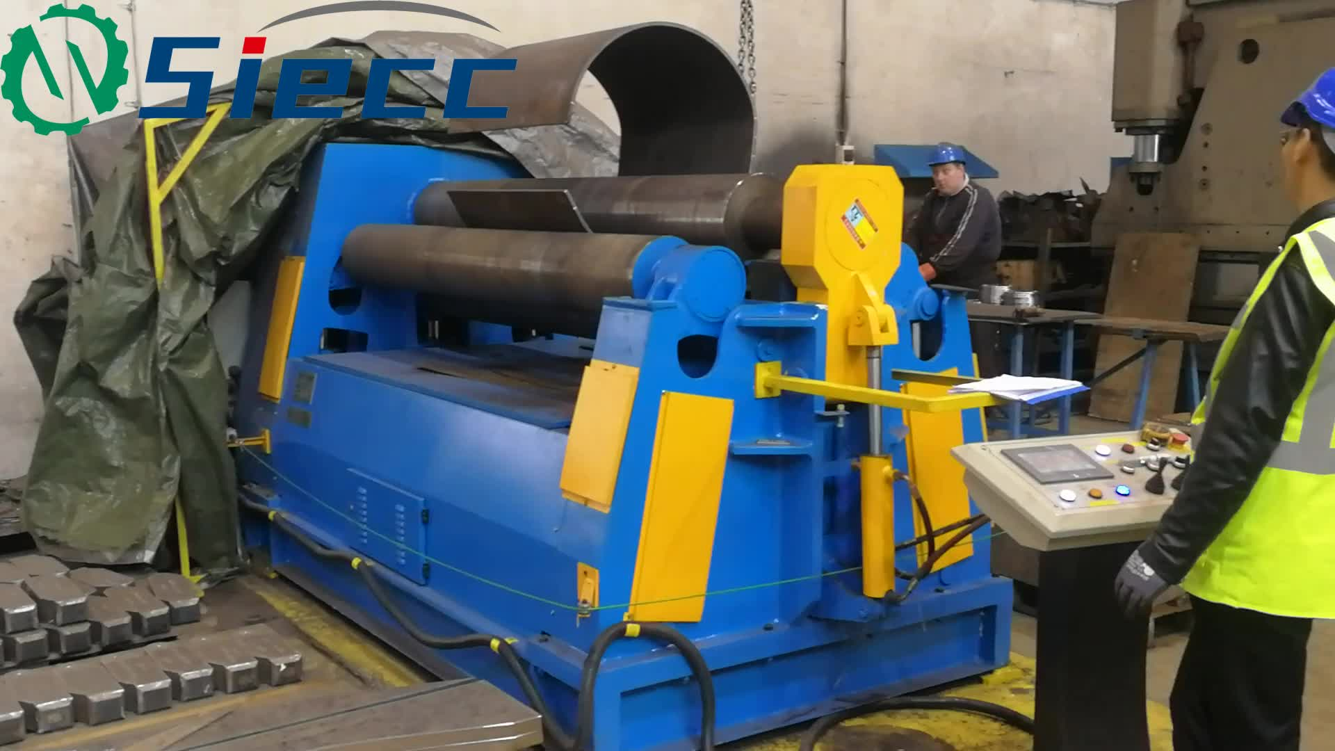 W11S used roll forming machine,roll laminating machine,rolling pipe bending machine