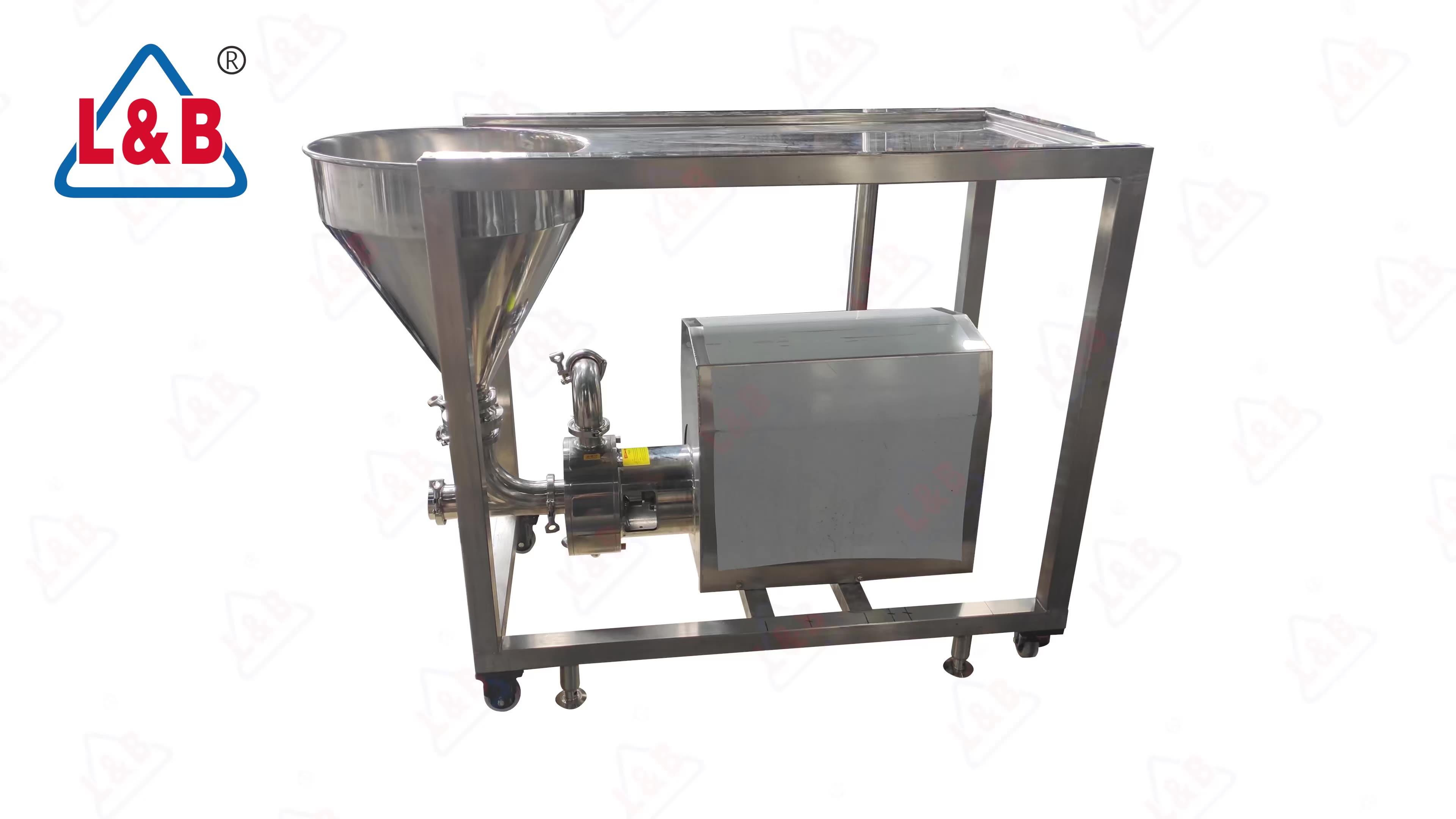 Paslanmaz çelik yüksek etkili su ve süt tozu karıştırma makinesi
