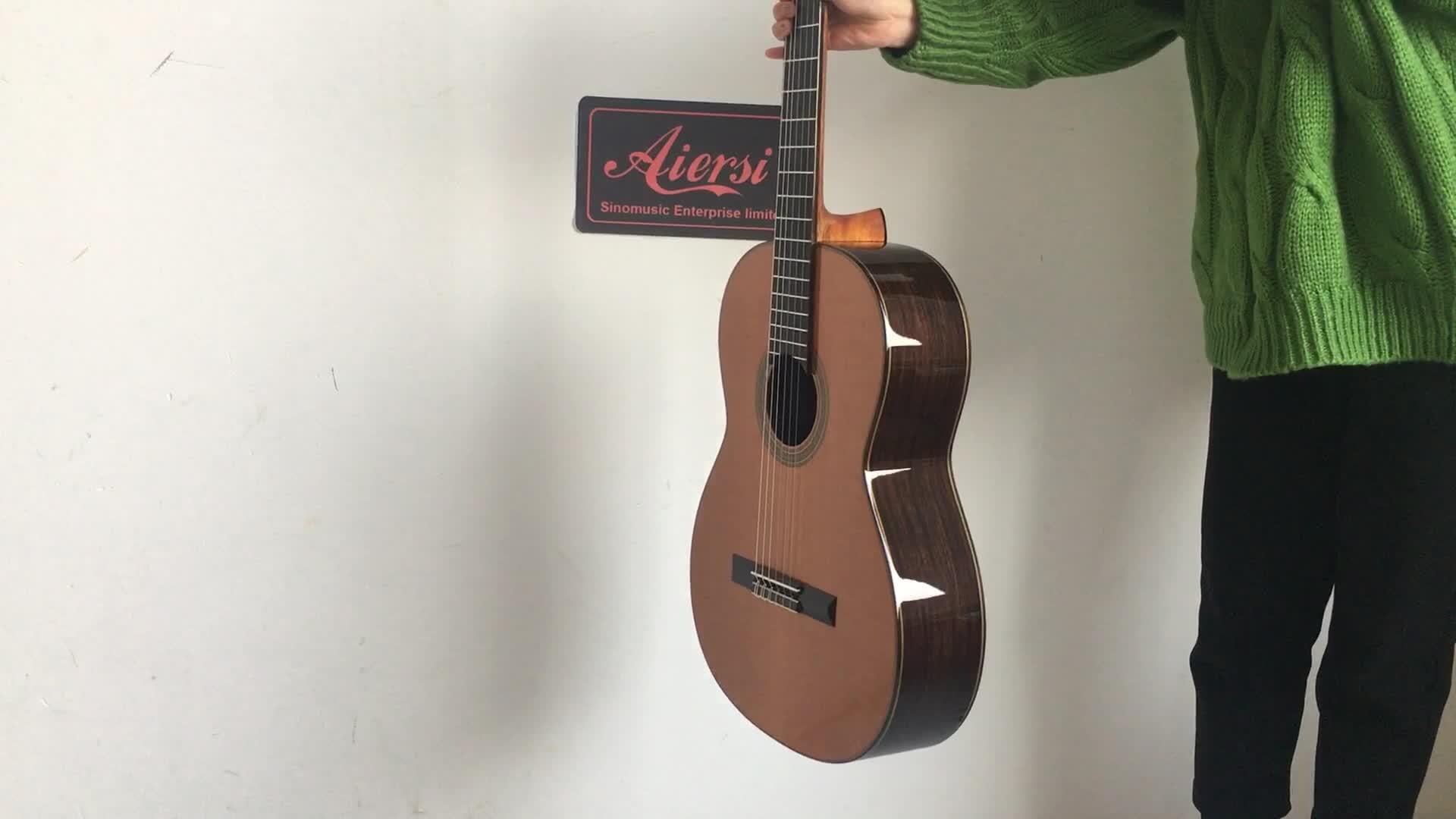 China Aiersi Solid High grade handmade classical guitar