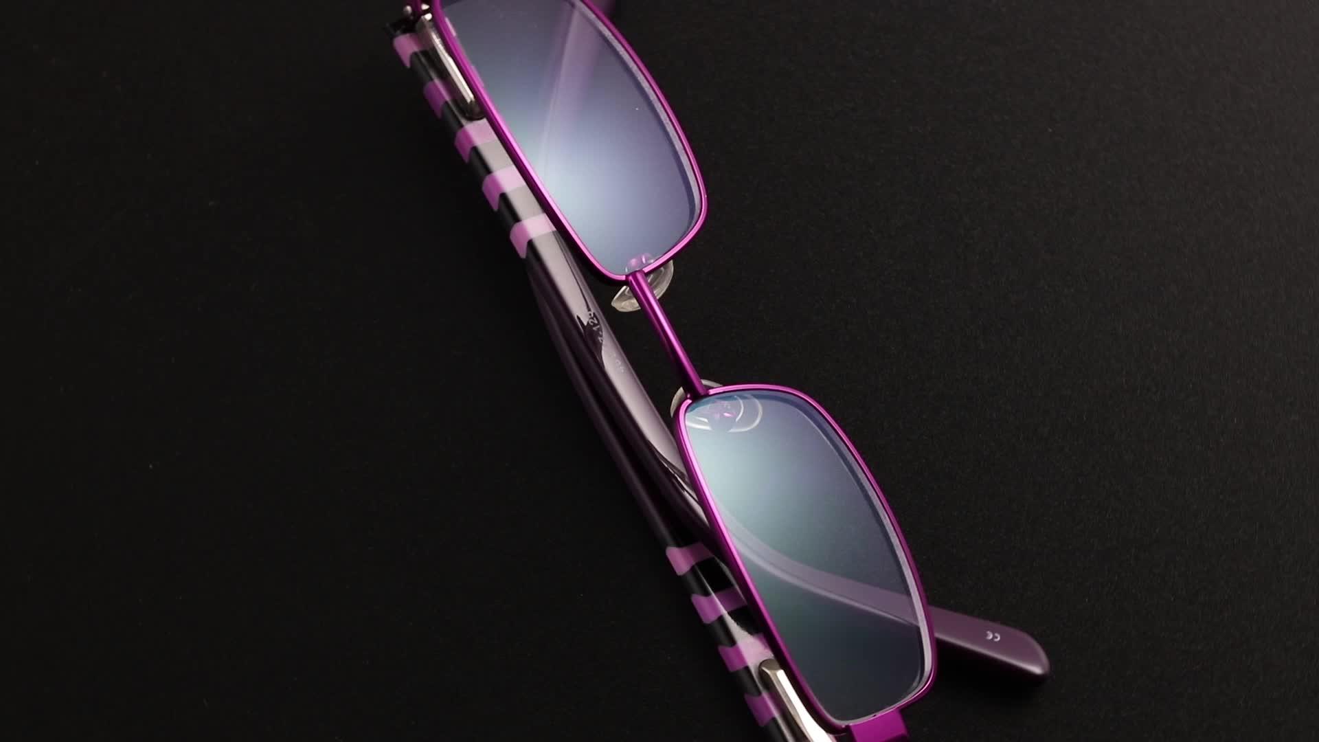 Bemore New Arrival Lightweight spring hinge small metal frame blue light blocking glasses for kids