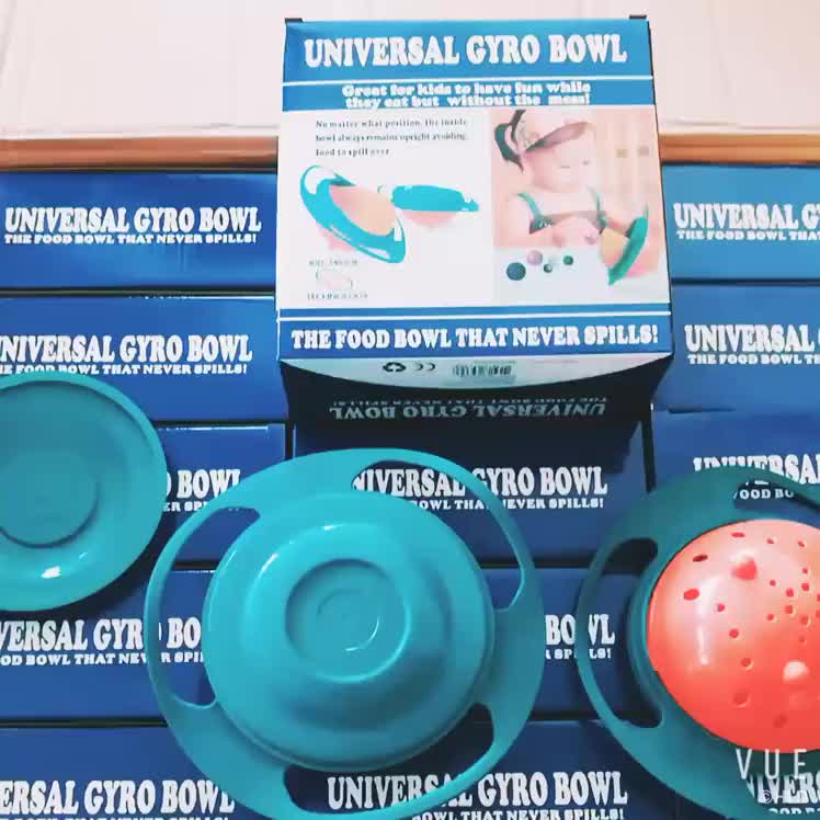 Spill Proof Non Spill Feeding Bowl, Baby Universal Gyro Bowl 360