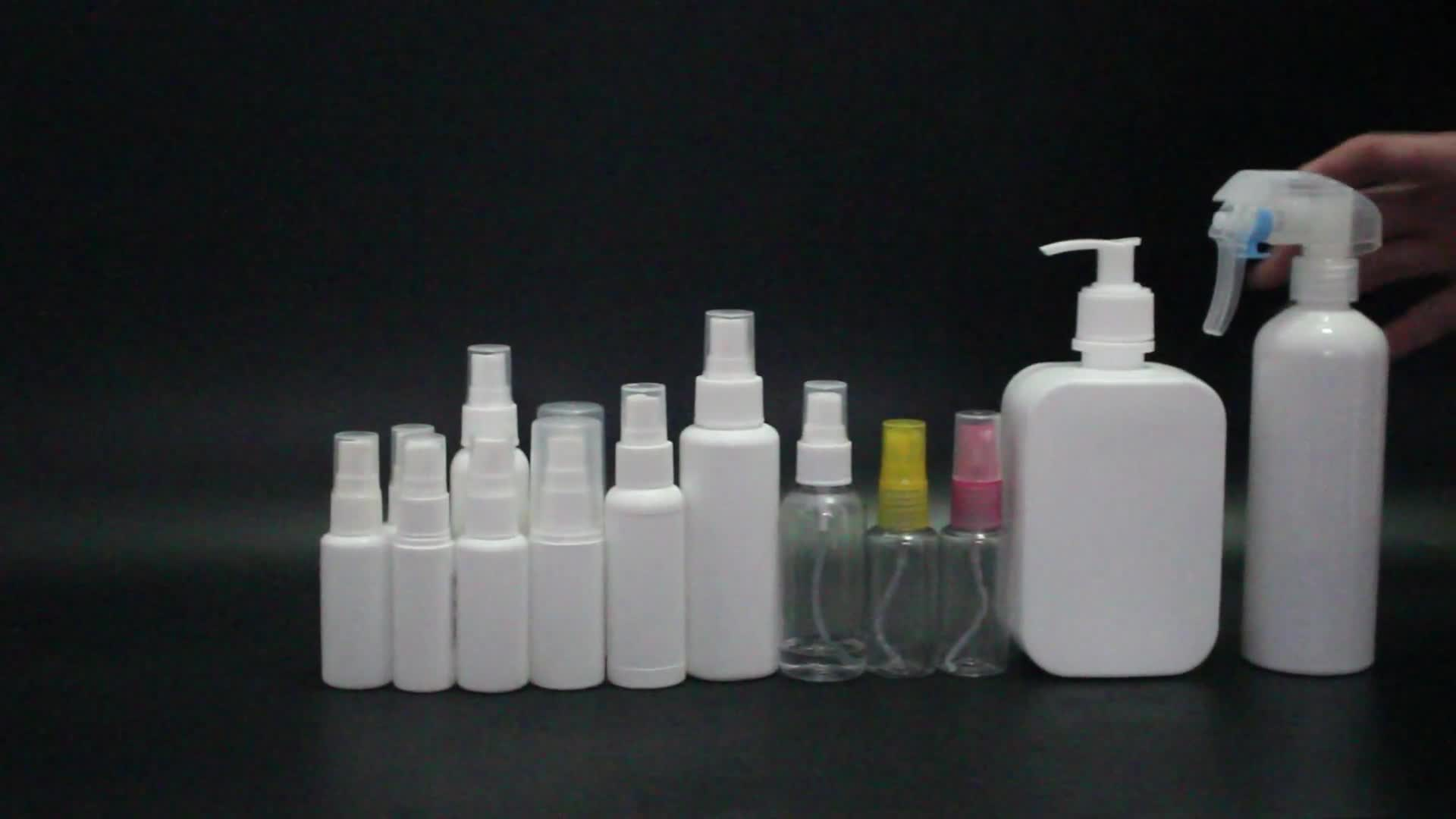100ml atomizer spray bottle 100 ml 2 ounce 100 ml white plastic HDPE and PE bottle with pump sprayer