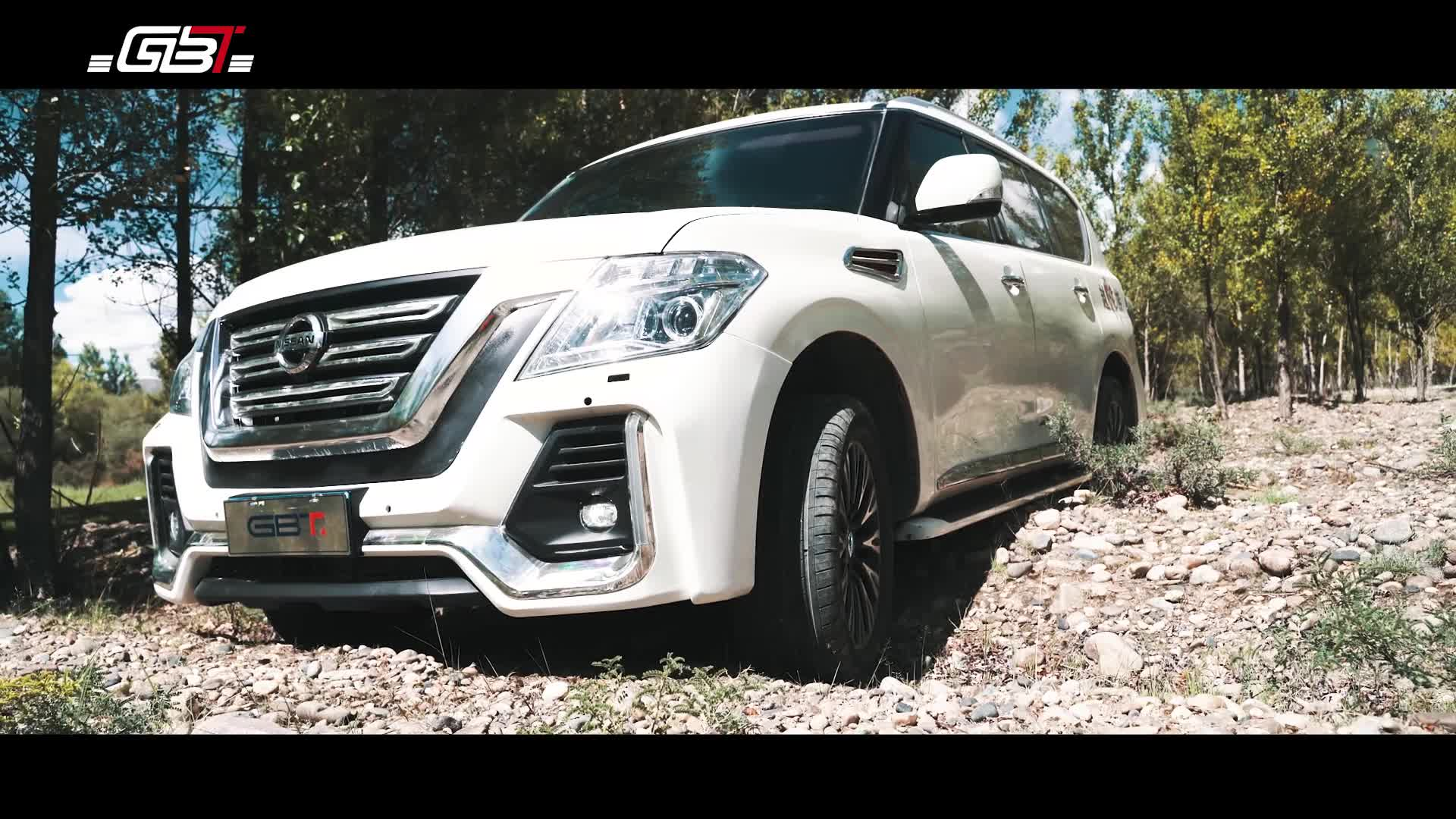 GBT New Body Kit include pp abs material front/rear bumper assembly for Nissan Patrol Y62