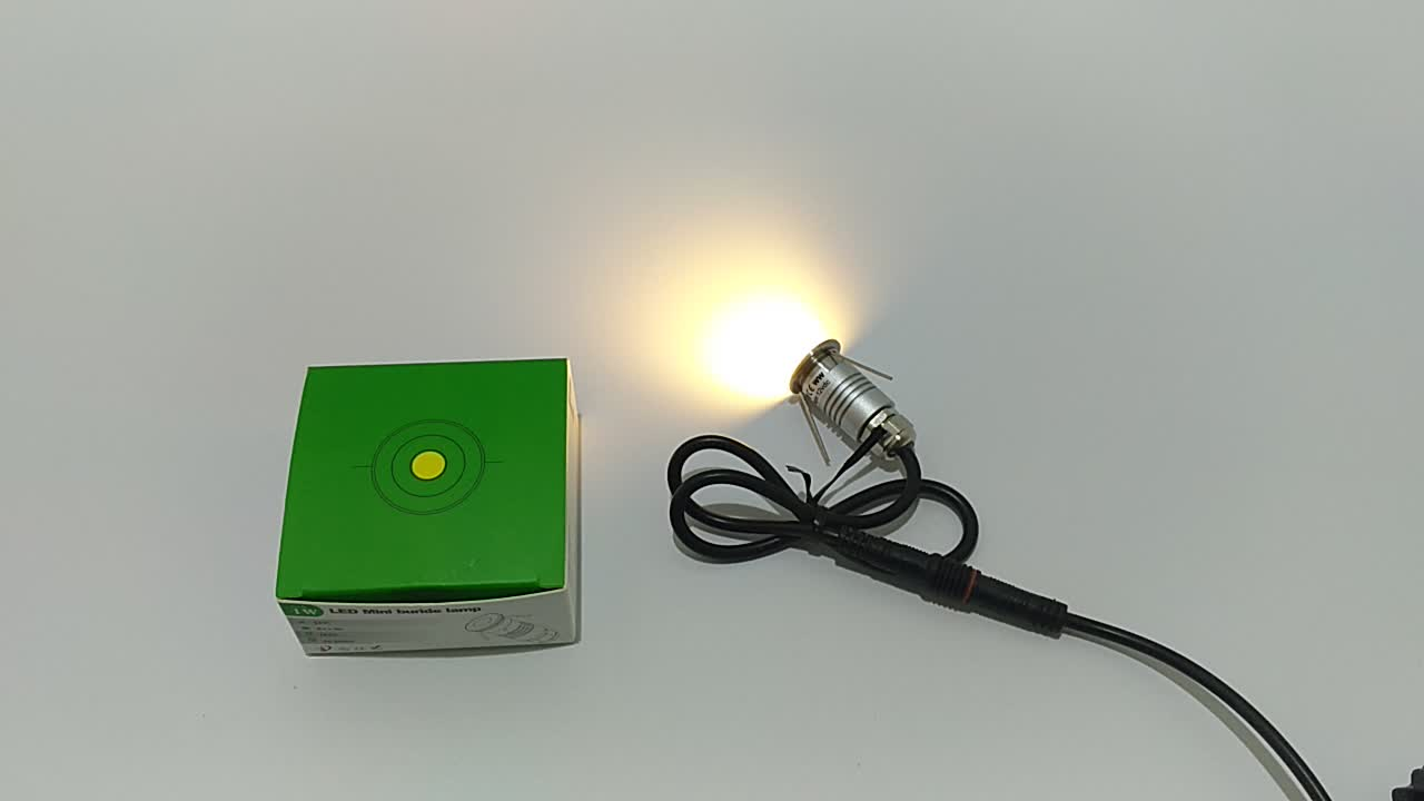 D20mm mini led spotlight 12v for outdoor lighting 120degree