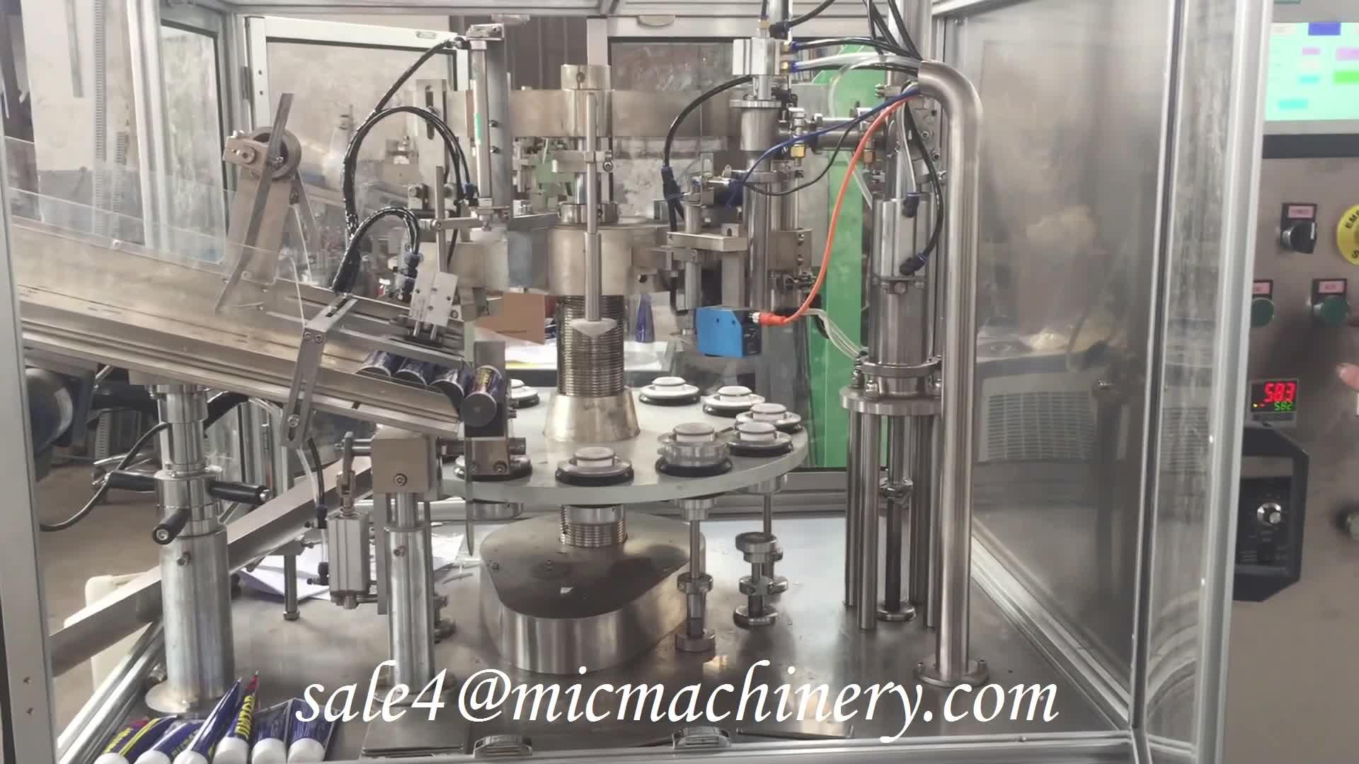 트리플 항생제 페니실린 치질 의료 화상 자동 피부 연고 튜브 충전 씰링 기계