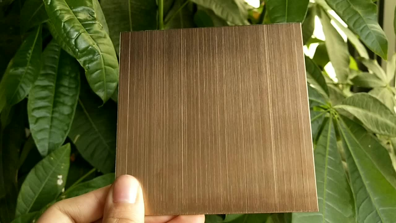 L007 430 4x8 Color Coated Hairline Stainless Steel 2MM Copper Clad Metal Laminated Sheet