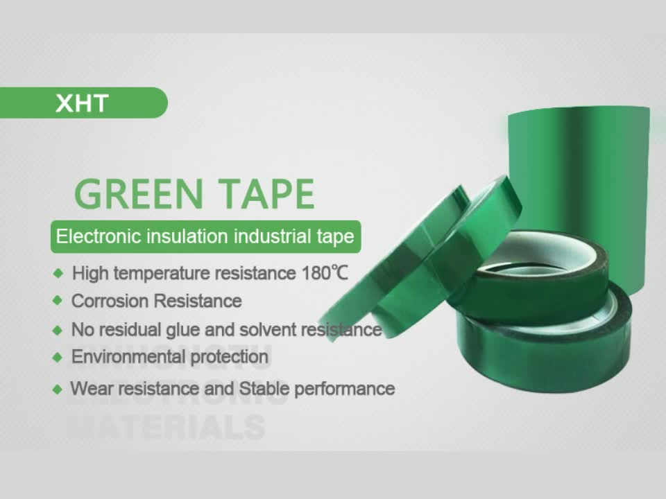 High quality green polyester tape powder coating masking tape