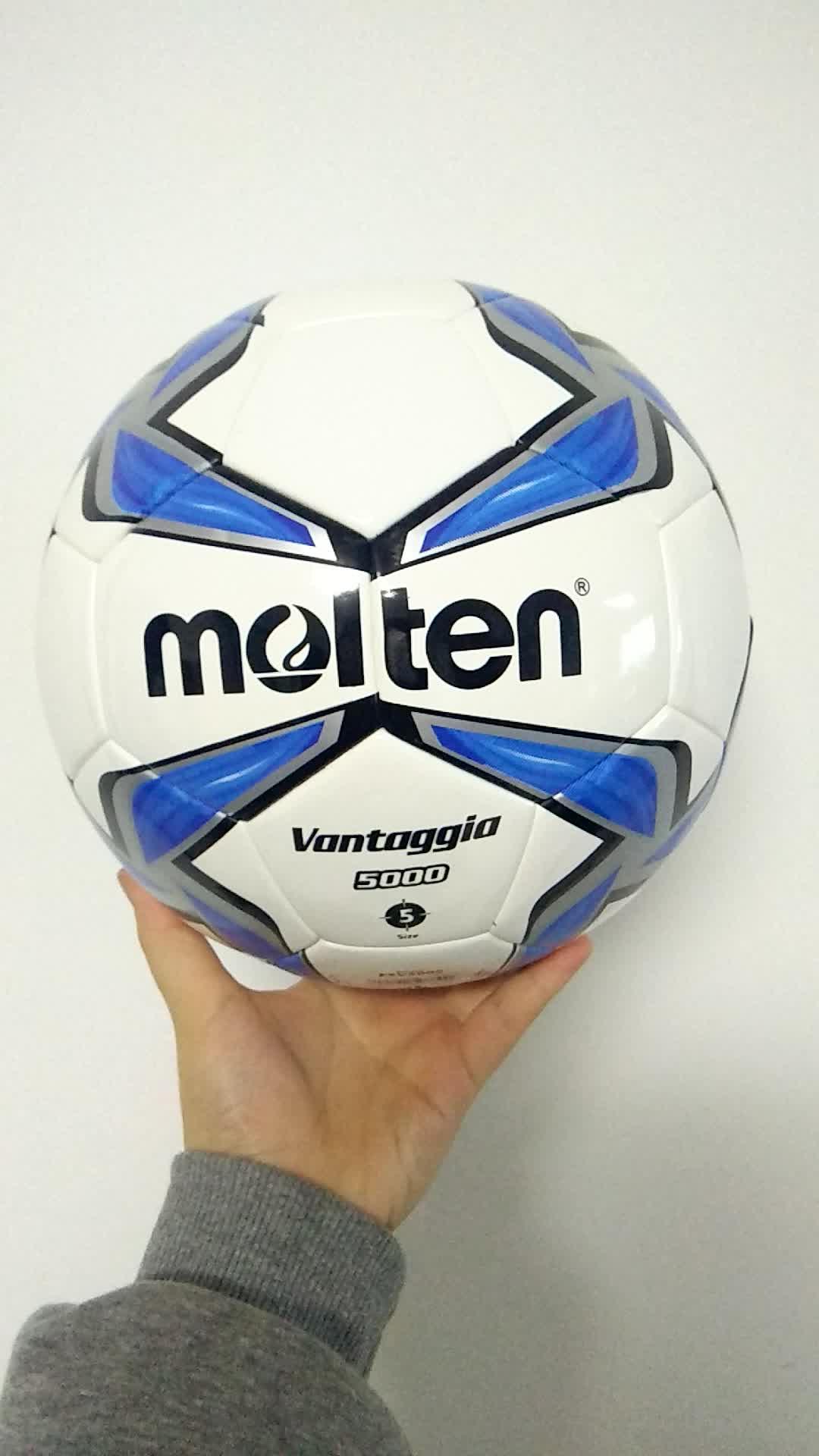 pelotas de futbol No.5 molten inflatable custom logo training thermal bonded soccer ball