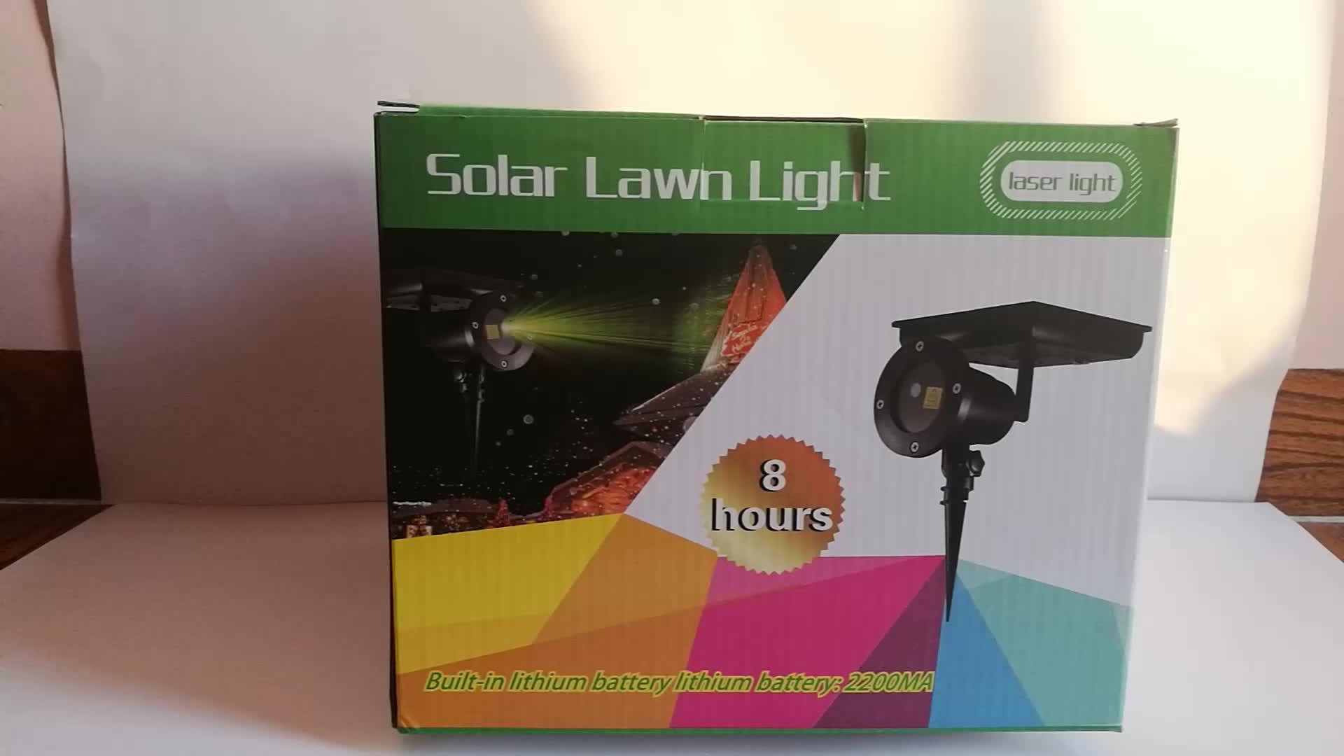 New 다기능 휴대용 온보드 방식이 solar power Christmas decoration 휴. laser 조명 solar led 빛