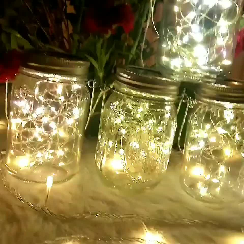 Solar Lamp String LED Fairy 빛 10) 의 Led 메이슨 Jar 병 캡 대 한 크리스마스 Wedding Decoration
