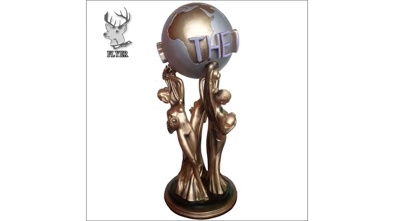 2018 popular design the world is yours statue full size bronze scultpures
