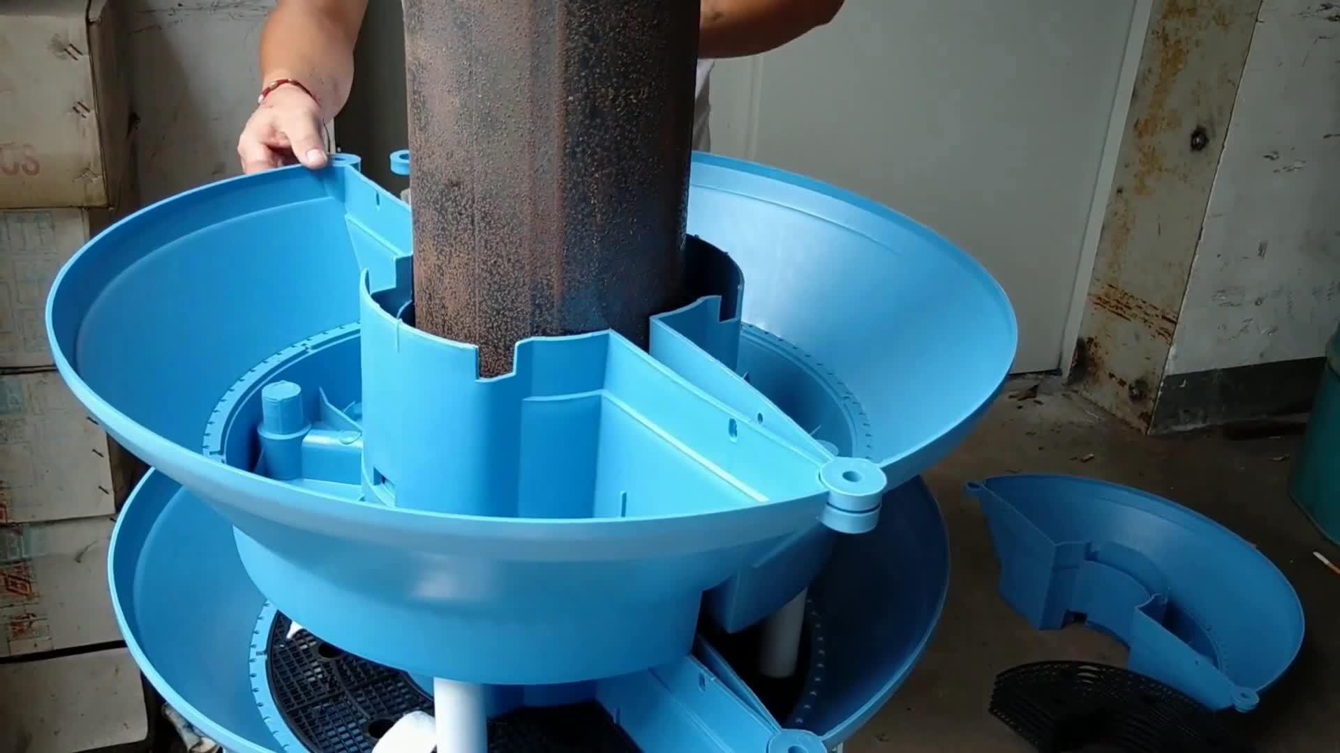 SOL Vertical Garden Pots Easily Assembled Round Flower Ball Planter Plastic Stackable Lamp Post Flower Pillar Self-Watering