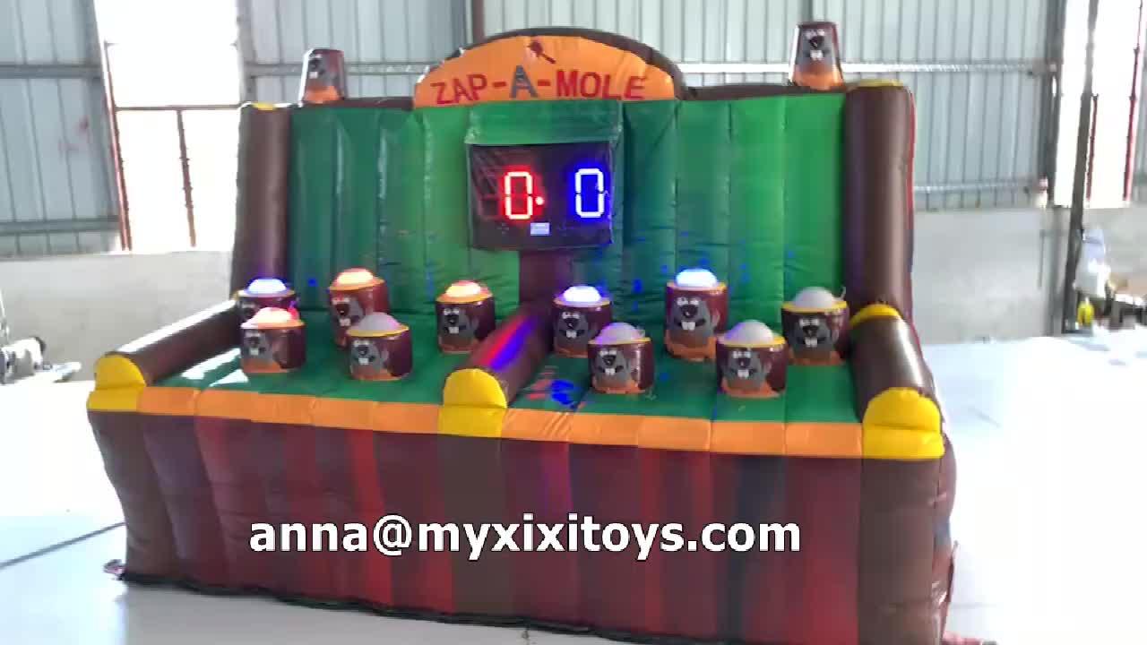 XIXI ของเล่น Commercial Whack A Mole IPS ท้าทายการต่อสู้เกมอาเขต Inflatable ZAP Mole Carnival เกมแบบโต้ตอบ