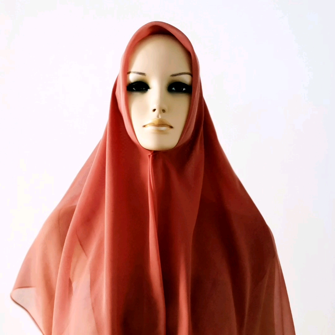 Factory price Japanese quality pure polyester  Muslim scarf  hijab scarf to Malaysia market