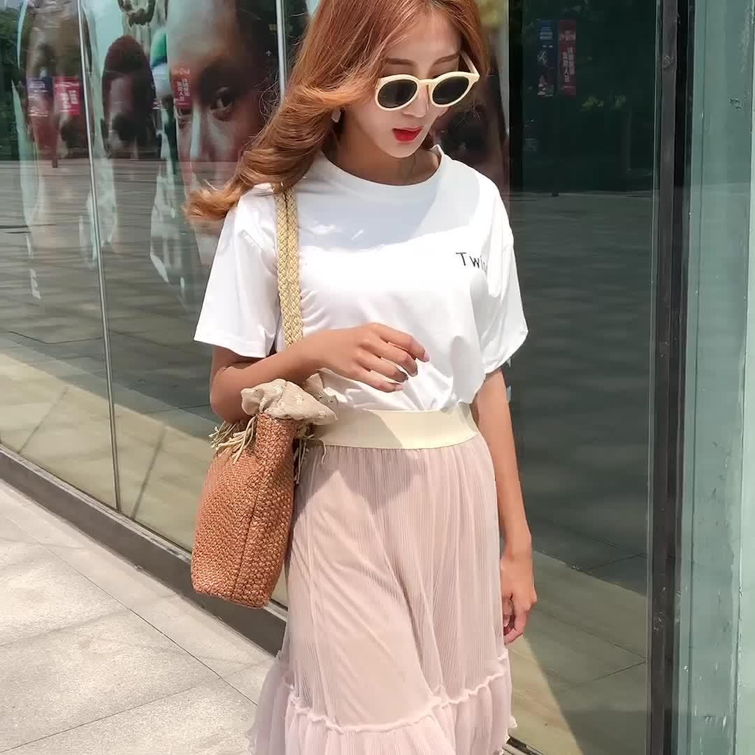 Пользовательские OEM Многоцветный выбор белый ярлык забавные соломы сумки для женщин