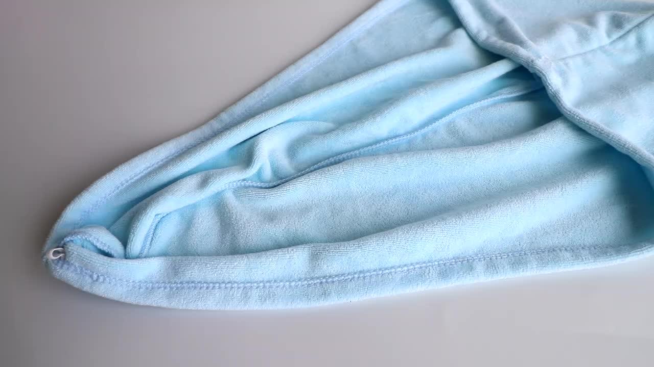 2 штуки в коробке упаковка полотенце для волос из микрофибры супер впитывает тюрбан для волос