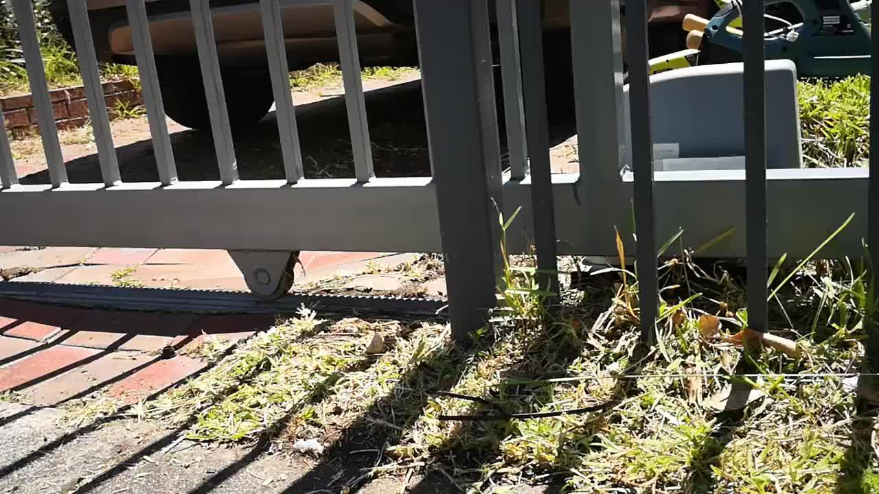 Puerta de Hierro forjado de hierro principal swing y puerta corredera rueda