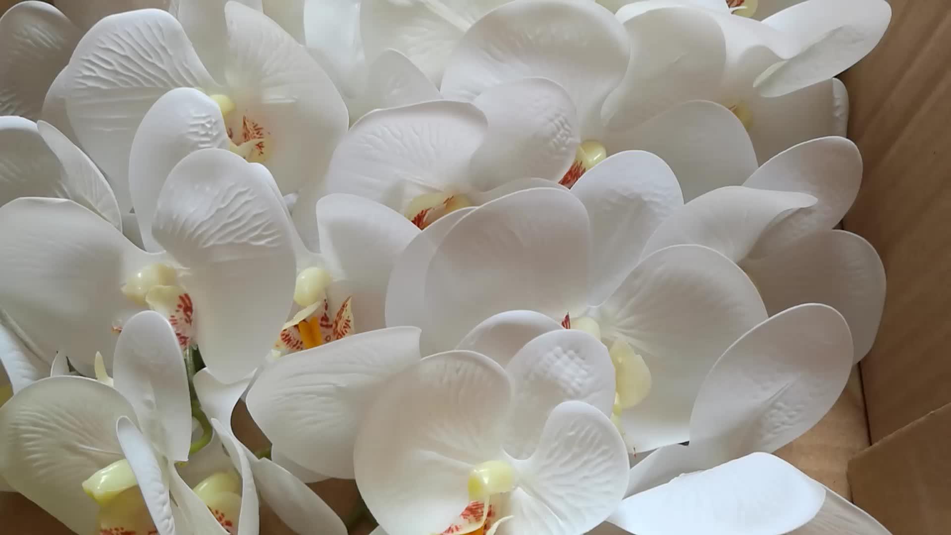 IFG Trong Nhà Bất Động Cảm Ứng Latex Nhân Tạo Hoa Trồng Trong Chậu Dendrobium Cây Phong Lan