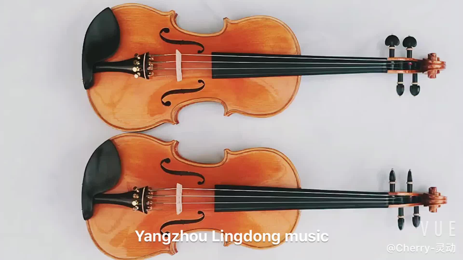 berühmte marke handgefertigte violine mit freien viereckigen violinetui