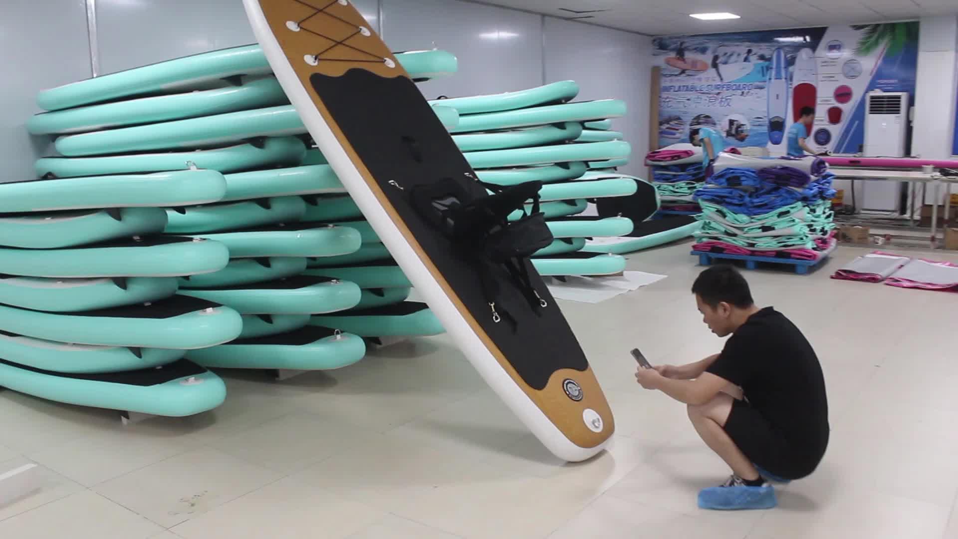 Lichtgewicht zachte stand up custom opvouwbare sup boards opblaasbare paddle