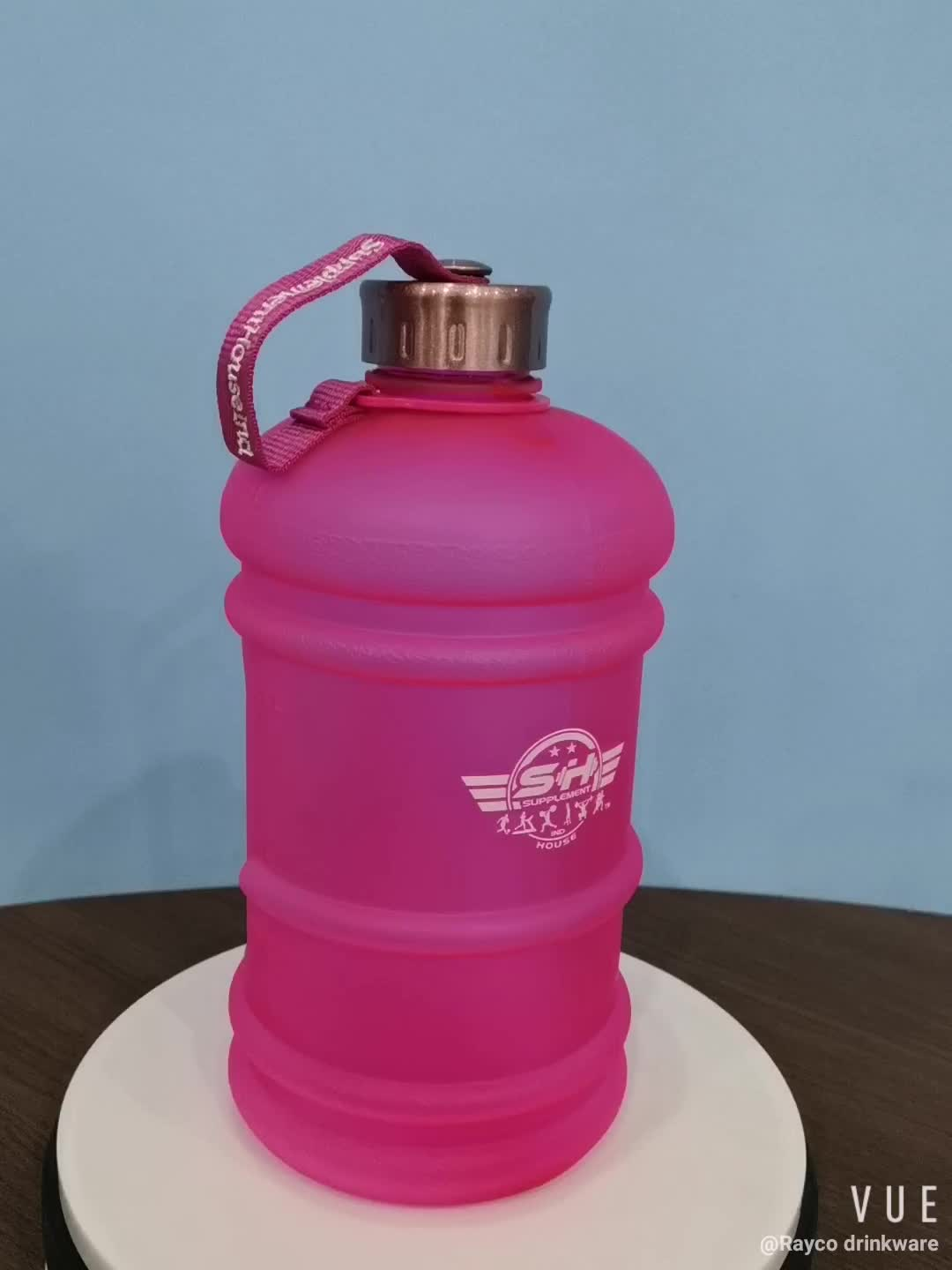 Surface Oil Sprayed 2.2L Gym Water Bottle for Bodybuilding BPA Free Sports Fitness Water Jug