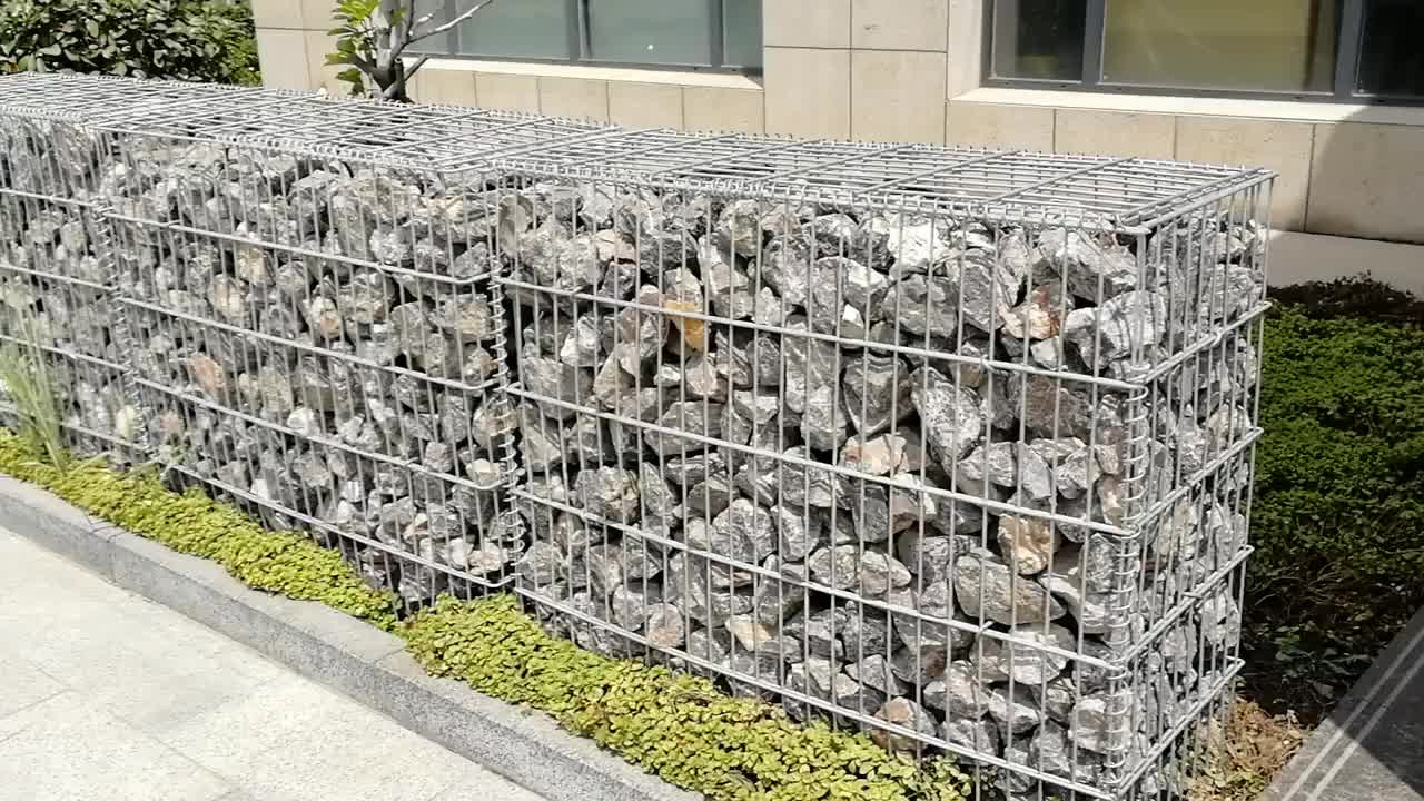 1*1*2m Manufacturer 75*75mm Welded Galvanized Stone Garden Wall