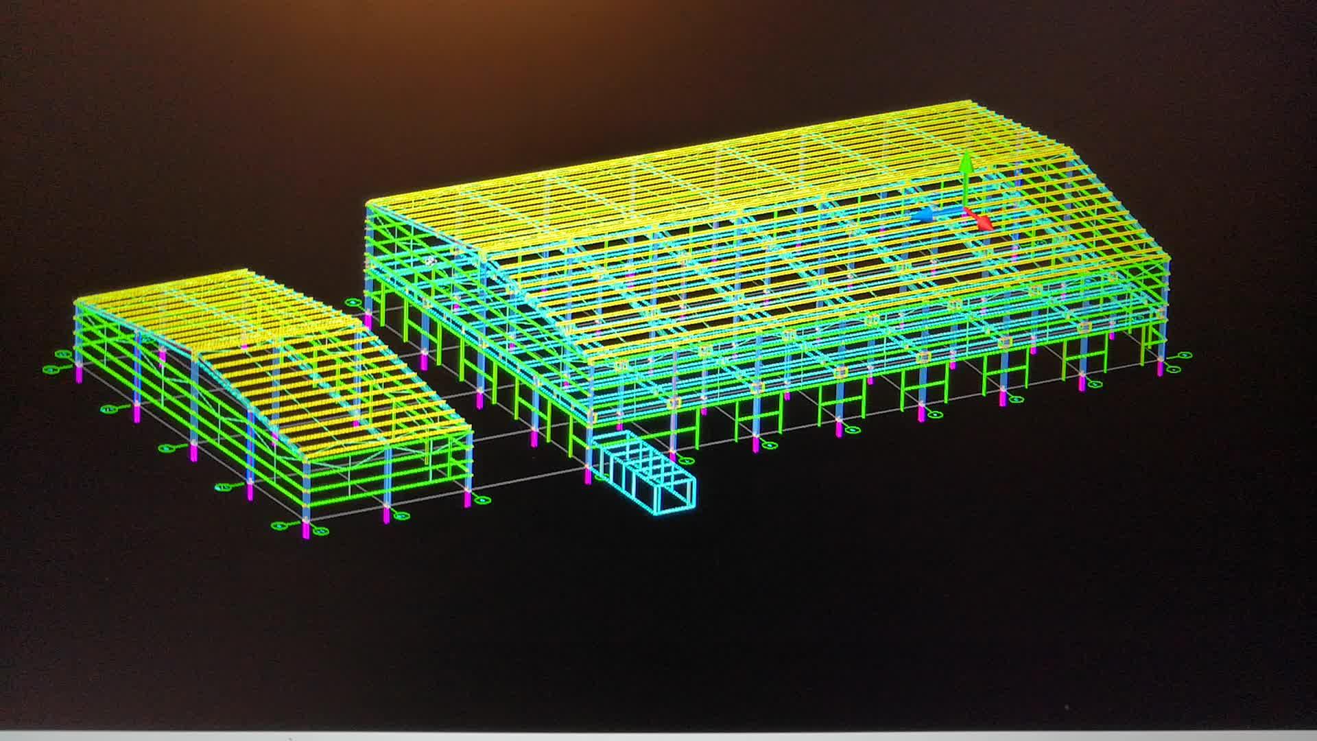 Steel structure design Architectural design Mechanical calculation