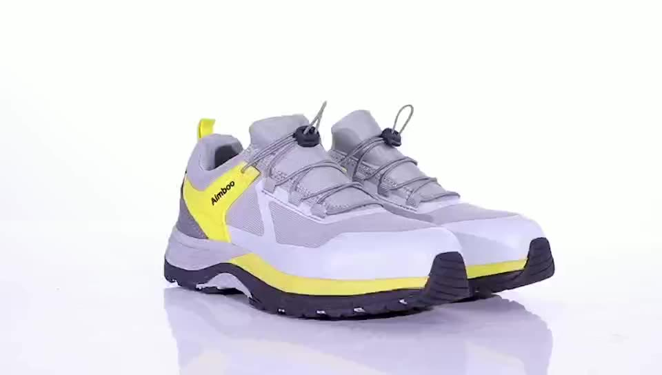 Aimboo 2020 huaerxin fashion classic shoes for men outdoor hiking shoes Nubuck safety_footwear working safety shoes for workers