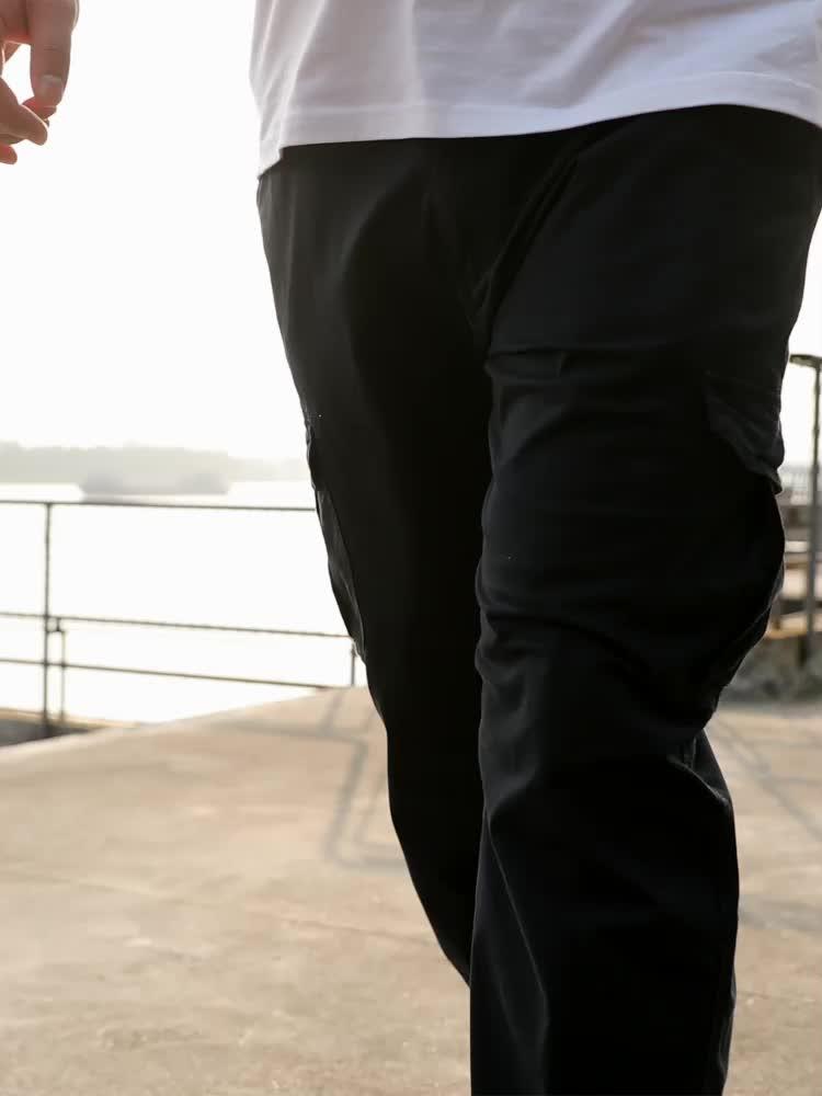 Los hombres más tamaño de pierna recta Pantalones casual Pantalones de deporte