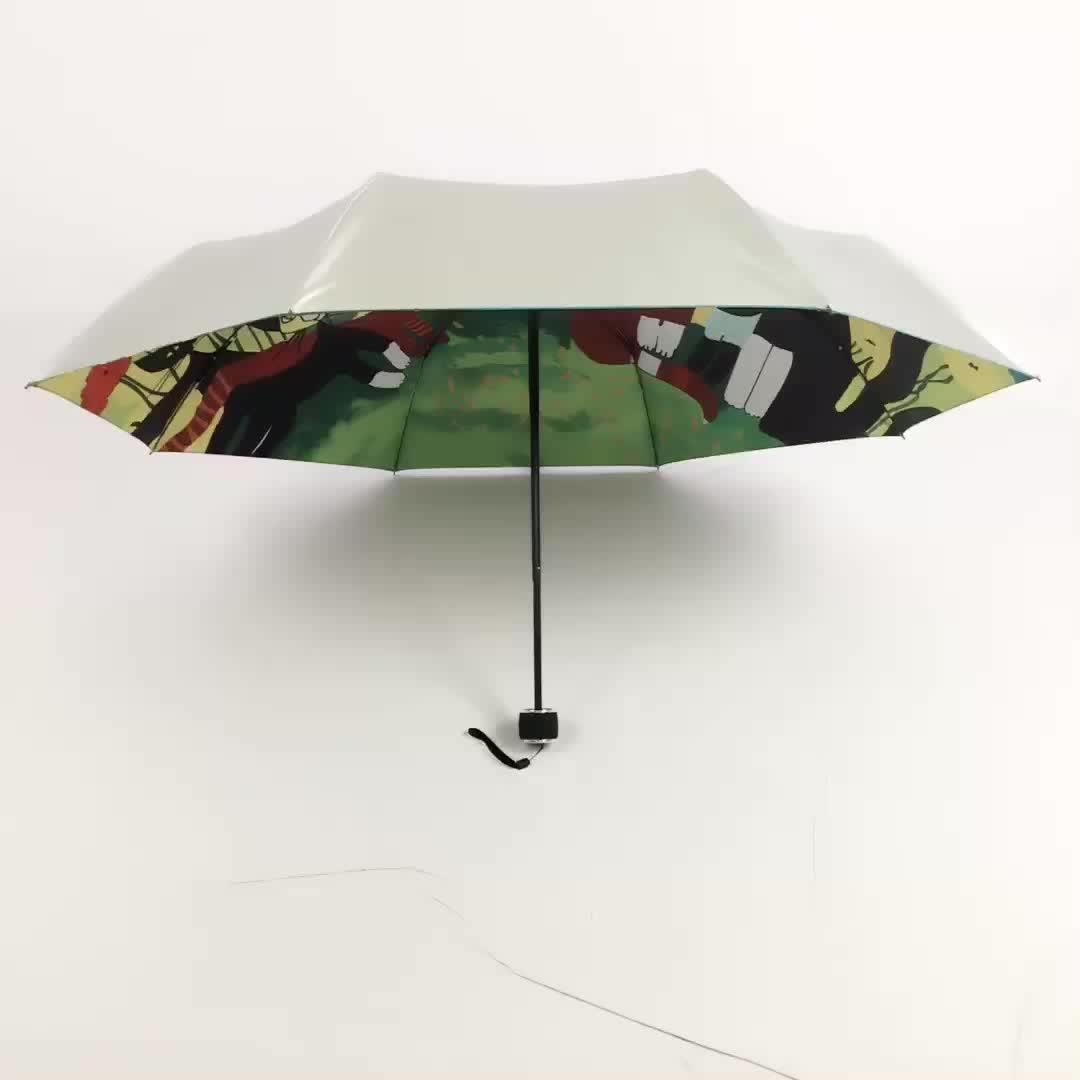 Ücretsiz örnek düşük adedi fabrika kaynağı tam renkli baskılı şemsiye özel Made şemsiye tam fotoğraf baskı şemsiye