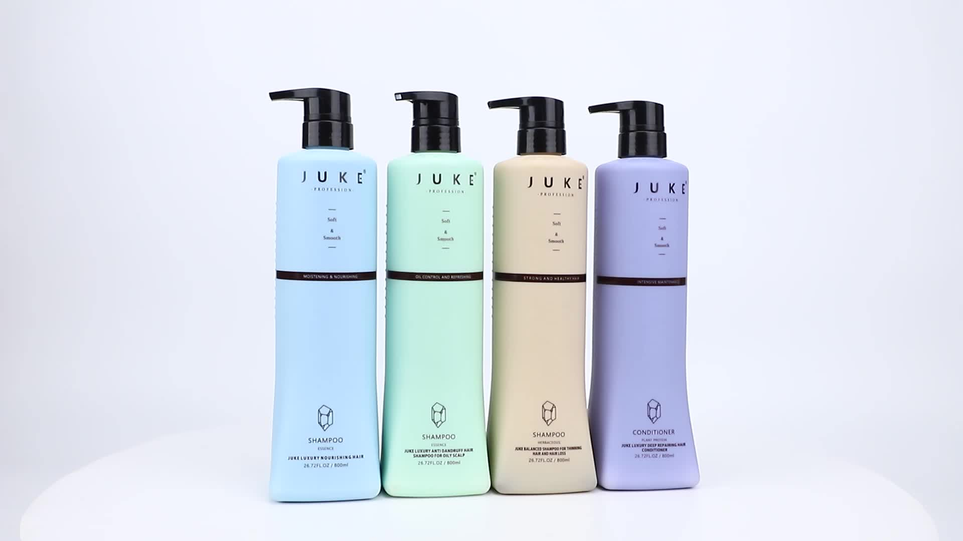 JUKE Multi-Function Herbal Hair Scalp Care Natural Anti-Hair Loss Lotion Ginger Shampoo and Conditioner