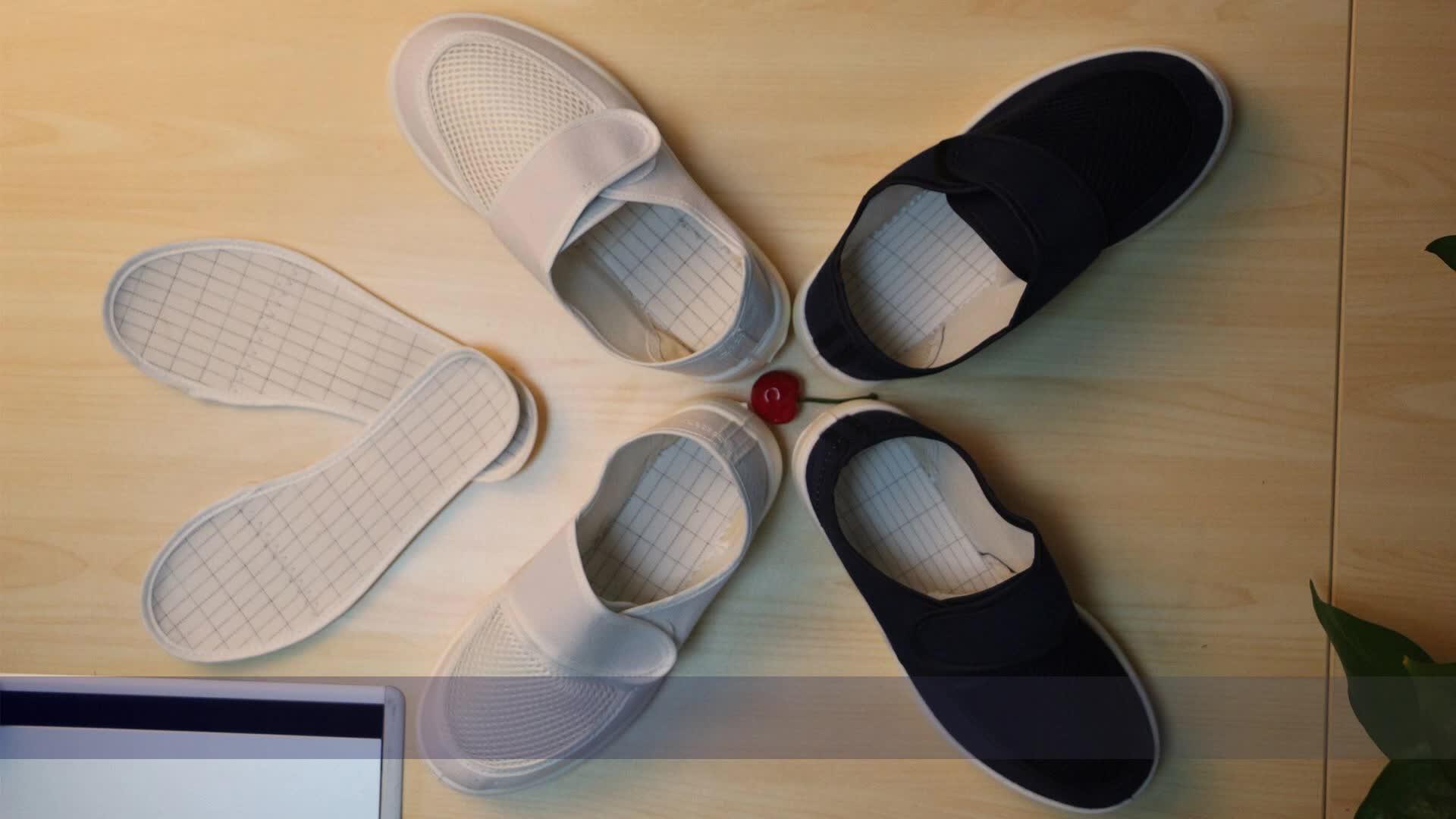 giày chống tĩnh bụi giày bảo vệ sạch thở giày lưới vải, thực phẩm và thoải mái PU vận chuyển đáy mềm