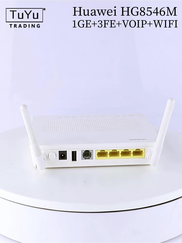ब्रांड Huawei GPON के साथ वायरलेस ONU HG8546M 4FE बंदरगाहों 1 फोन पोर्ट वाईफ़ाई ONU ONT