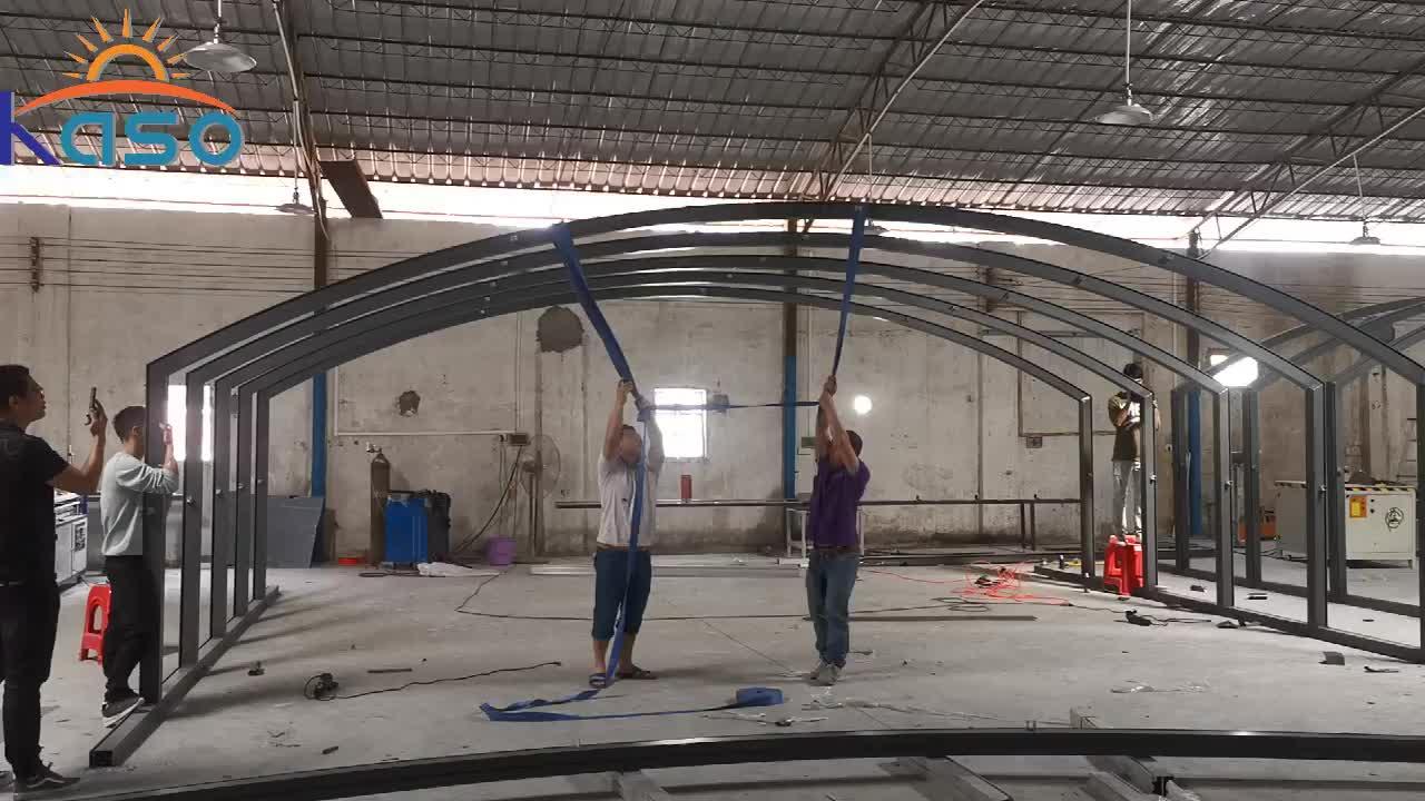 Glas Schwimmen Rahmen für Pools für Home Dehnungsfuge Kreis 18Ft Stuhl Kassette Starre Covana Spa Pool Abdeckung