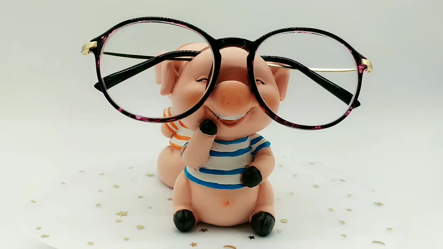 custom resin gift craft decorative animal sculpture eyeglass holder stand  cartoon statue  home decoration