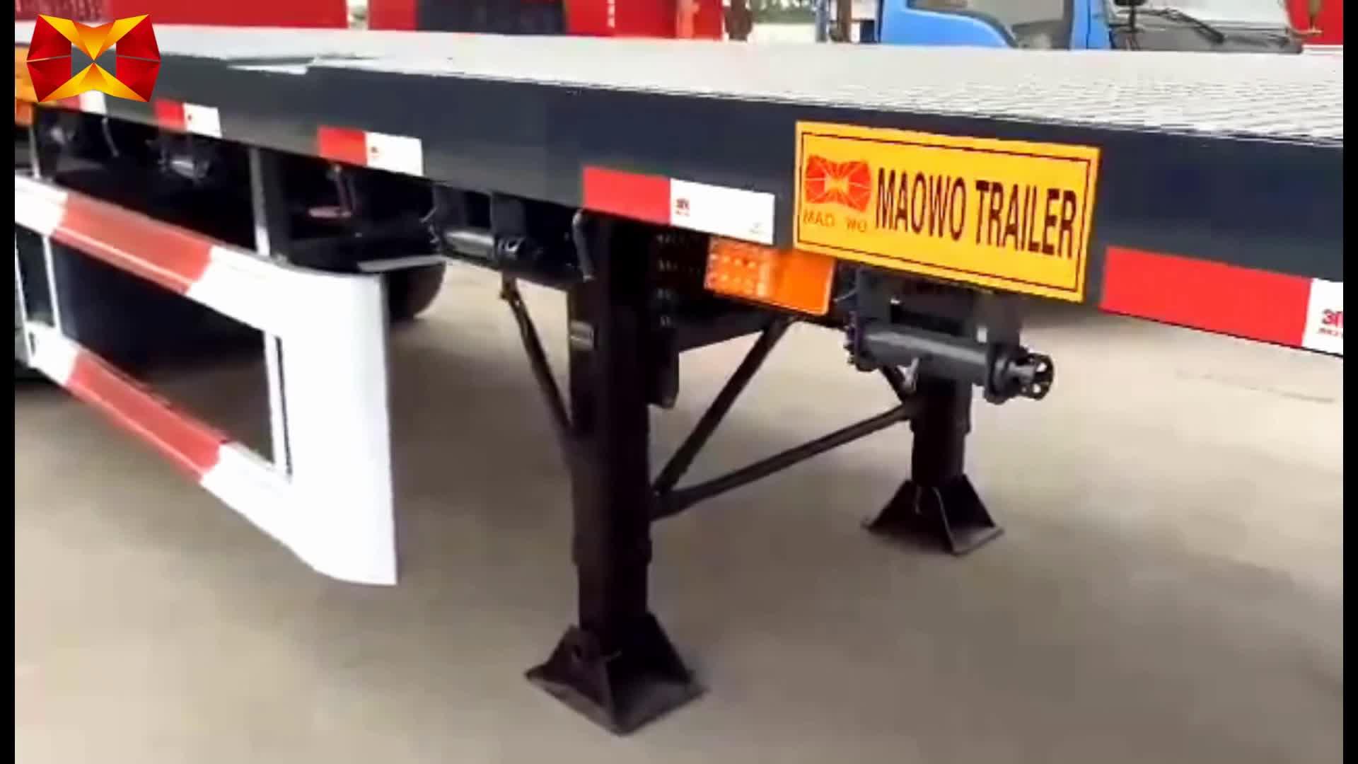 Hot Sale 3 Axle 40ft Truck trailer parts flatbed semi trailer for sale