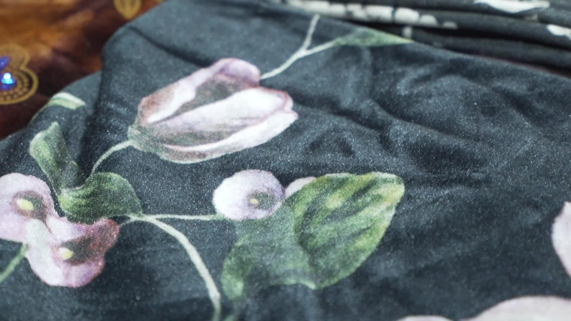 ファッションスタイルプリーツベロア生地衣服で中国