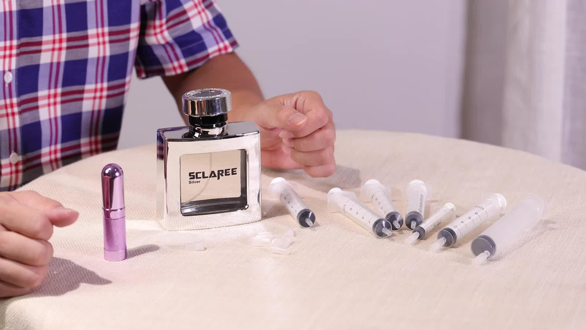 Mub Desain Yang Sangat Baik Seri 50 Ml 100 Ml Tidak Teratur Kaca Botol Parfum dengan Crimp Tutup Kustomisasi Grosir