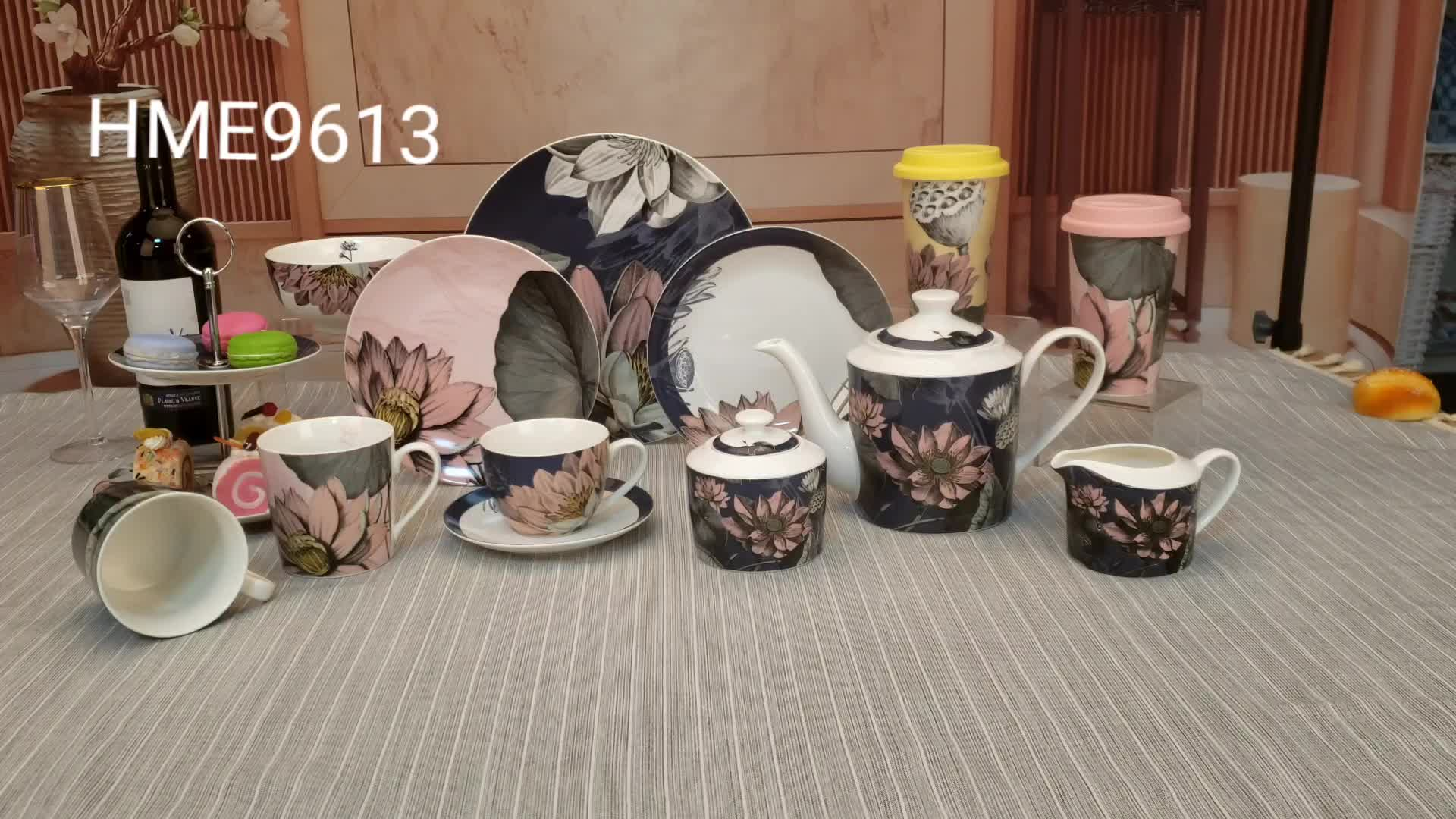 Vendita calda Inglese botanico rustico porcellana da tavola in ceramica piatti